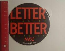 Aufkleber/Sticker: NEC Pinwriter P2 plus (21011714)