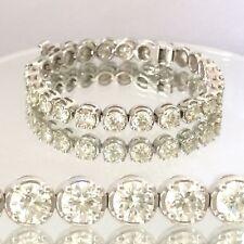 17.50ct round cut white gold 14k diamond Tennis bracelet D SI2-SI3 CLEARANCE