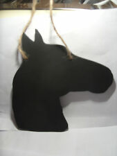 HORSE HEAD SHAPED chalkboard christmas gift pony stable message blackboard c