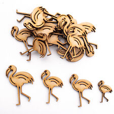Wooden MDF Shapes Crafts Flamingo Scrapbooking Embellishments Card Decoration