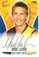 2009 Select AFL Champions Gold Foil Printed Signature FS58 M. LeCras (Eagles)