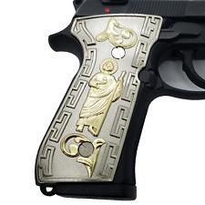 New St Jude Beretta GRIPS 92/96 Series Pistols 92F, 92FS, M9, 96 Nickel Gold