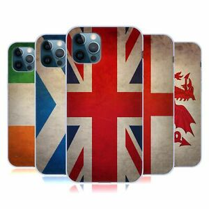 HEAD CASE DESIGNS GRUNGE COUNTRY FLAGS 1 SOFT GEL CASE FOR APPLE iPHONE PHONES