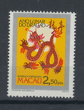 1988 Macau / Macao UM/M New Year : Year of the dragon stamp (SG 661)