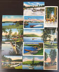 Vintage Linen Postcard Lot Of 12 ~ Adirondack Mountains NY