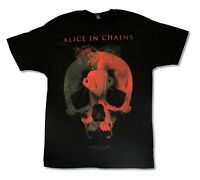 Alice In Chains Fetal USA Cdn Tour 2014 OK-ON Black T Shirt New Official Hollow