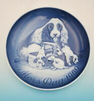 1969 Bing & Grondahl B&G Mother's Day Plate Cocker Spaniel & Pups 1st Edition
