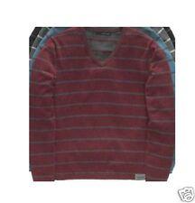Calvin Klein Jeans Men's Size XL V-neck Gray & Port Sweater