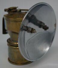 Antique ~1914 Brass Miner's Helmet Lantern