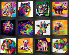 Multi-Colour Animals Original Art Prints