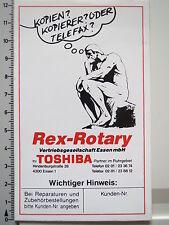 Pegatina Sticker toshiba-Rex Rotary (1958)