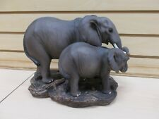 "HD45664 ELEPHANT MOM BABY ""BE THERE FOR YOU"" STATUE FIGURINE PACHYDERM"