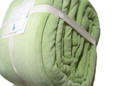 Pottery Barn Kids Green Cozy Soft Chamois Full Queen Duvet Cover New