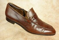 Magnanni Brown Paseo Moc Toe Leather Strap Slip on Dress Loafers Mens Size 9M