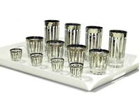 Vintage Dorothy Thorpe Silver Cocktail Glasses