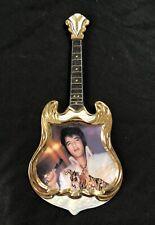 New ListingBradford Exchange Elvis Presley Guitar shaped Plate Wall Hanging 1974 Superstar