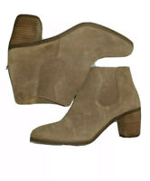 LUCKY BRAND  Tan suede leather boots booties Size 7M New