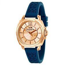 Coach Women's Boyfriend Teal Silicon Rubber Strap Watch 34mm 14502095 $195