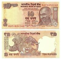 INDIA 10 Rupees REPLACEMENT 02F* (2015) P-102r* UNC Banknote  Paper Money