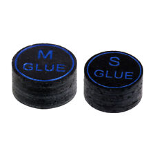 2 Pack Deluxe Pool Cue Tips -13mm, Soft and Medium Hard