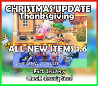 Animal Crossing: New Horizons Christmas / Thanksgiving Update ALL NEW ITEMS 1.6