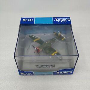 "P-47 Thunderbolt USAAF ""II WW ACES"" Armour Collection #5371 Plane 1:100 Die Cast"