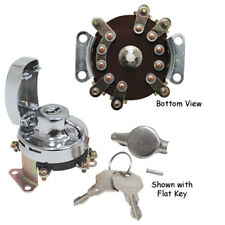 V-Factor 6 Post Electriconic Ignition Switch Steel Flat Key Fat Bob Dash Harley