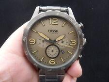New Old Stock FOSSIL Nate JR1523 Jumbo 50mm Chronograph Date Quartz Men Watch