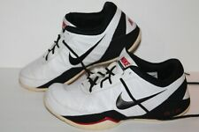Nike Ringleader Low Basketball Shoes, #488102-100, White/Black/Red,, Mens US 9.5