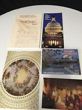 Washington DC Tourist Package-1 Lg Post Card+14 View Folder +Constitution+-Lot
