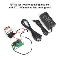 1.5W Laser Head Engraving Module 450nm Blu-ray w/TTL Wood Marking Cutting Tool