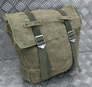Genuine Vintage Military Issue Heavy Duty Canvas Back Pack Pannier Side Bag CVG2
