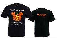 Personalised Disney Mickey Halloween Party 2019 Pumpkin Black T-Shirt 3yr - 5XL