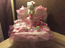XXL Windeltorte Taufgeschenk, Geburt, Babykleidung Spieluhr Hello Kitty