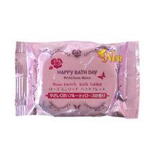 JPN KOSE Happy Bath Day Precious Rose Enriched Bath Tablet 50g Tracking!