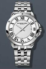 NEW Raymond Weil Men's Tango Watch 5591-ST-00300 White Dial Roman Numerals
