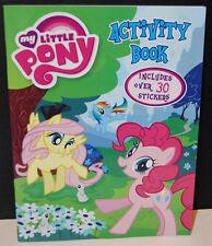 My Little Pony G4 FIM Activity book Fluttershy Pinkie Pie Stickers