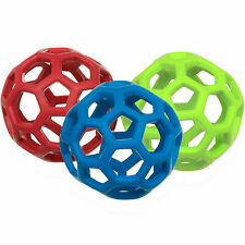 JW Pet HOLEE ROLLER BALL Dog Chew Treat Fetch Bouncy Toy MEDIUM 5 inch BUNDLE 3