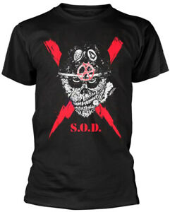 Stormtroopers Of Death S.O.D 'Scrawled Lightning' Black T-Shirt - NEW