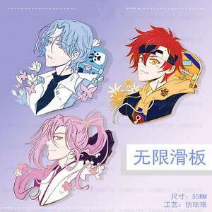 Anime SK8 the Infinity Langa Reki Cherry blossom Metal Badge Brooch Pin Gift