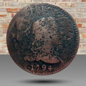 Large cent/penny 1794 head of 1793 Sheldon 17a RARE