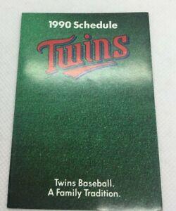 1990 Minnesota Twins Baseball Schedule SuperAmerica Tickets