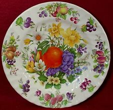 """CROWNFORD Giftware Corp. china HARVEST FRUIT pattern Luncheon Plate @ 9"""" scene 2"""