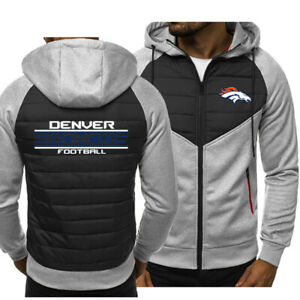 Denver Broncos Hoodie Classic Autumn Hooded Sweatshirt Jacket Coat Top Tops