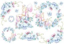 Papier de riz DFS045 Elfe Fleurs Flowers Rice Decoupage Paper serviette