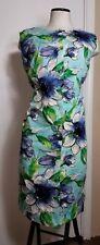 Tori Richard Honolulu Hawaiian Tropical Resort Stretch Knit Dress - size Large,