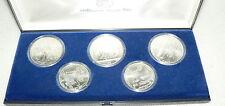 Russland Satz Olympiade 1980 5 und 10 Rubel UdSSR Silbermünzen (da2837)