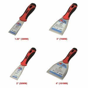 "Paint Scraper High Carbon Steel Stiff Rust Free Blade 1.5 2 3 4"" Scrapers HILKA"