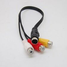 7 Pin S-video male to 3 RCA Female video adapter cable
