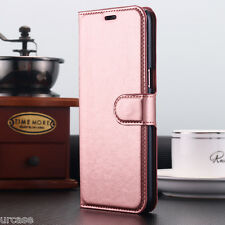 Magnetic Leather Wallet Card Holder Flip Case Cover FR Samsung Galaxy S8 Apple for Apple iPhone 7 Plus Rose Gold